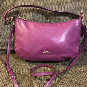 Coach Legacy Smith Hobo X-Body Purple Leather